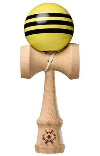Tribute Kendama Triple Stripe Yellow Black