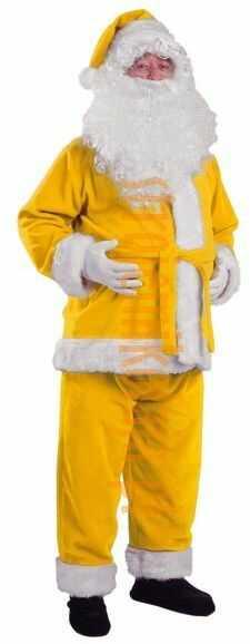 Żółty strój Mikołaja - kurtka, spodnie i czapka