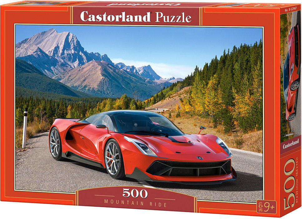 Puzzle Castor 500 - Samochód w górach, Mountain Ride