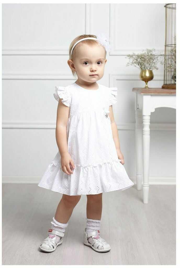 Sukienka z falbanką dla najmłodszych 68-92 Simon biały