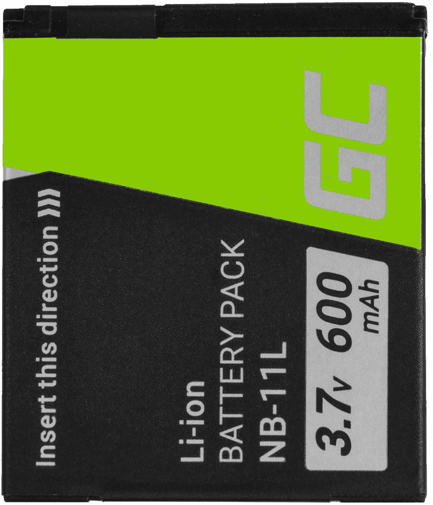 Akumulator Bateria Green Cell  NB-11L do Canon IXUS 125HS 240HS 265HS 275HS 285HS PowerShot ELPH 110HS 320HS 340HS 9 3.7V 600mAh