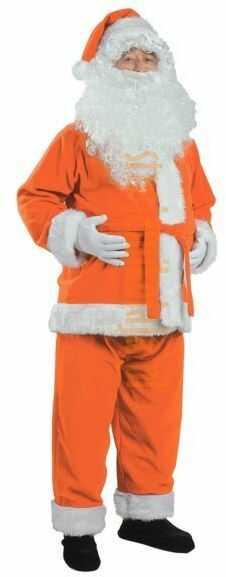 Pomarańczowy strój Mikołaja - kurtka, spodnie i czapka