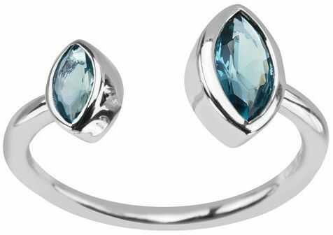 Staviori pierścionek. szkło. srebro rodowane 0,925.