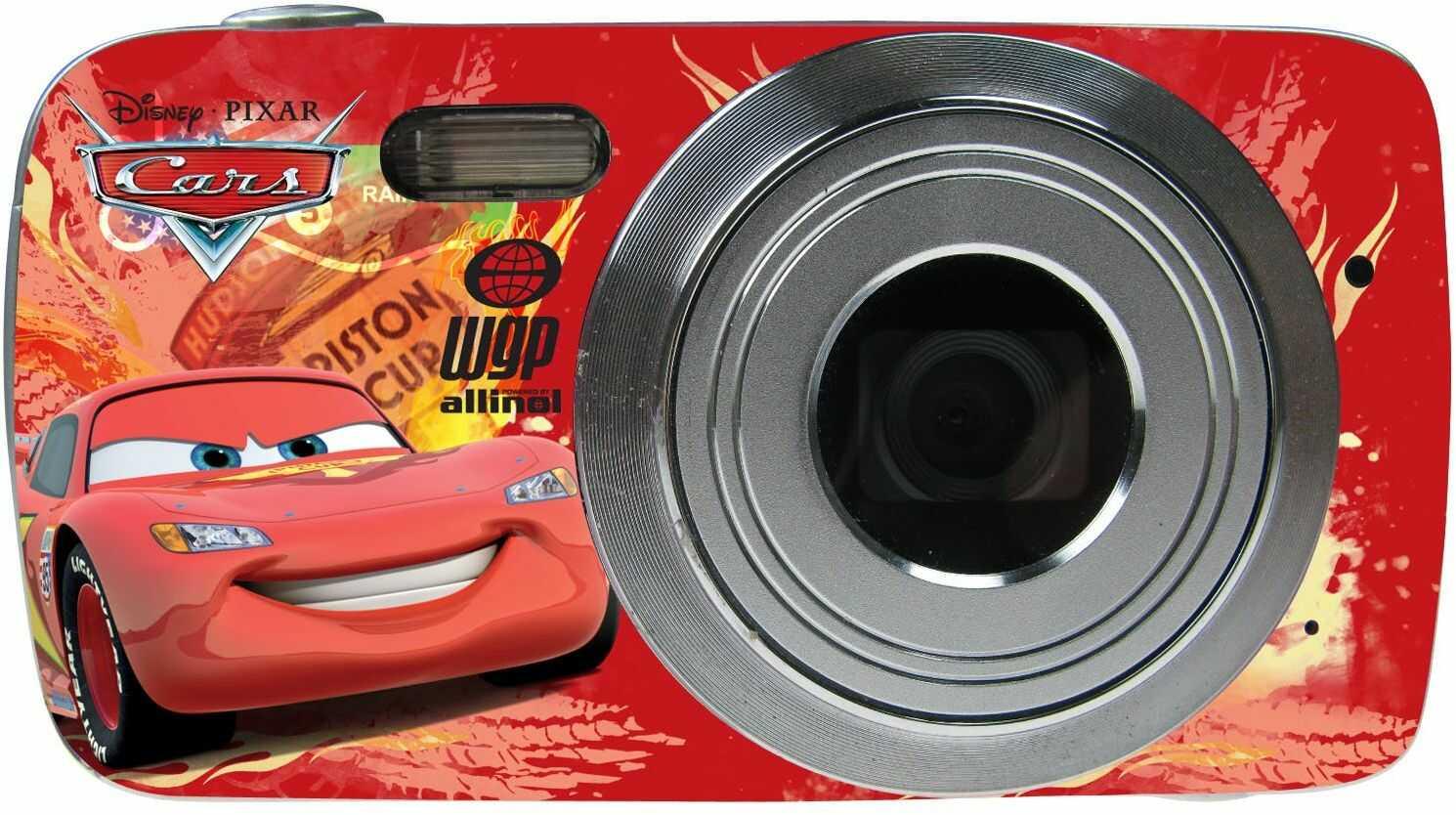 Lexibook DJ029DC Disney Cars aparat cyfrowy (8 megapikseli, wyświetlacz 4,6 cm (1,8 cala), 4-krotny zoom), czerwony