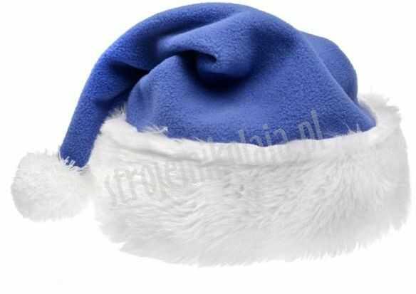 Czapka Mikołaja niebieska