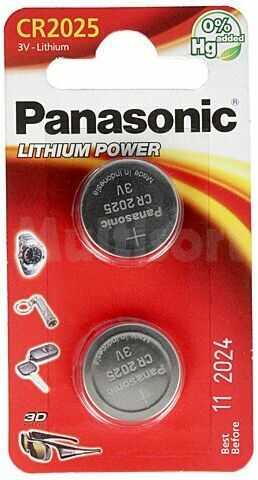 Bateria litowa 3V CR2025 PANASONIC fi20x2,5mm