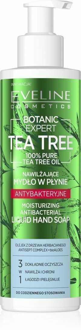 Eveline Eveline Botanic Expert Tea Tree Nawilżające Mydło w płynie antybakteryjne 200ml - pompka