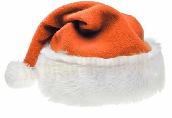 Czapka Mikołaja pomarańczowa
