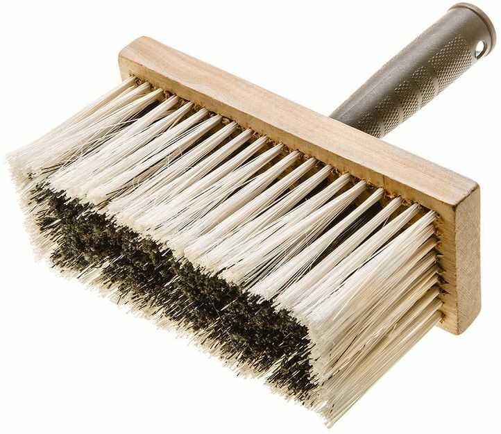 Pędzel ławkowiec 170 x 70 mm korpus drewniany trzonek z plastiku włos - polipropylen 19B117