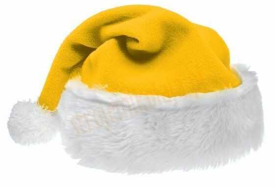 Czapka Mikołaja żółta