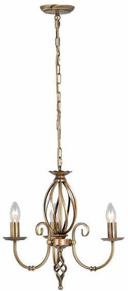 Lampa wisząca Artisan ART3 AB Elstead Lighting klasyczna oprawa w kolorze antycznego mosiądzu