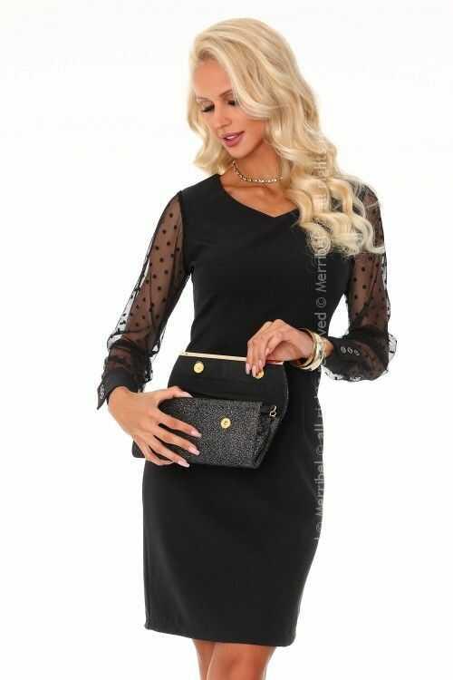 Nausica Black 85315 sukienka mała czarna