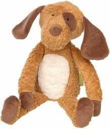 SIGIKID 39334 przytulanka pies zielony dziewczynki i chłopcy zabawka dla niemowląt zalecana od urodzenia brązowa/biała
