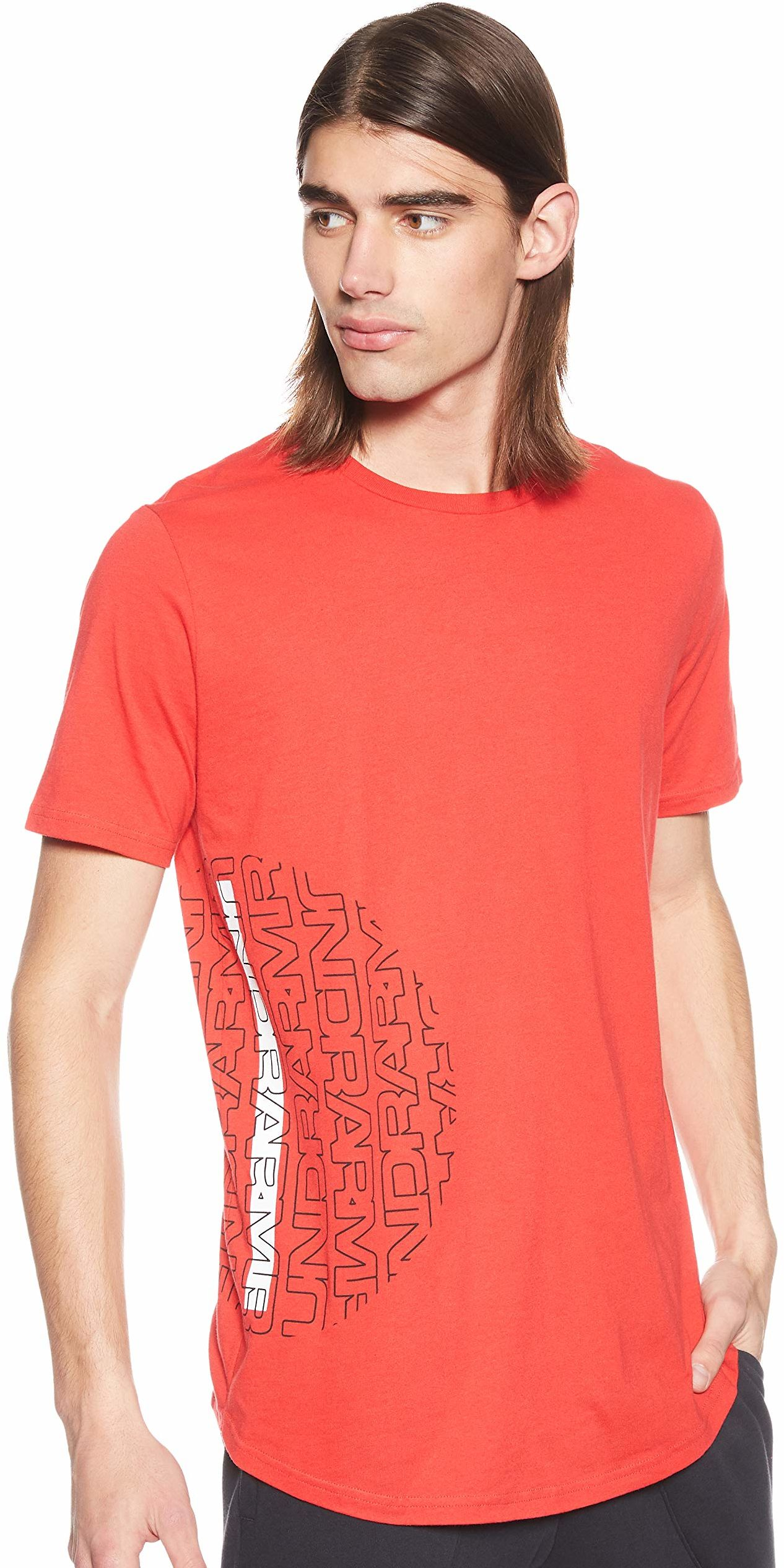 Under Armour Baseline męska koszulka z krótkim rękawem z krótkim rękawem Red/Black/White (600) S