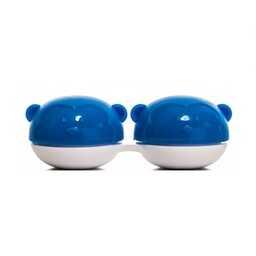 Pojemnik do soczewek Qcase - niebieska małpka