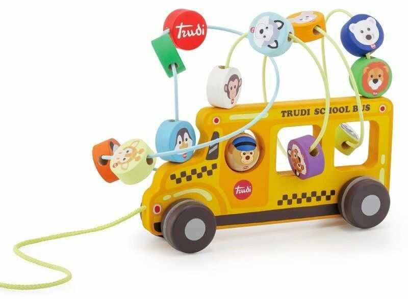 Autobus Szkolny pętla motoryczna dla najmłodszych, 88016-Sevi zabawki rozwojowe