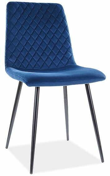 Krzesło IRYS VELVET granatowe Signal