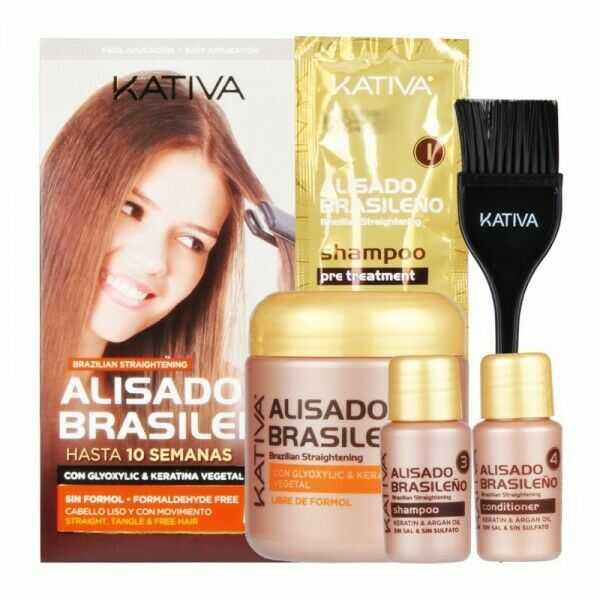 Kativa Brazilian Straightening Zestaw do prostowania lub wygładzania włosów w domu