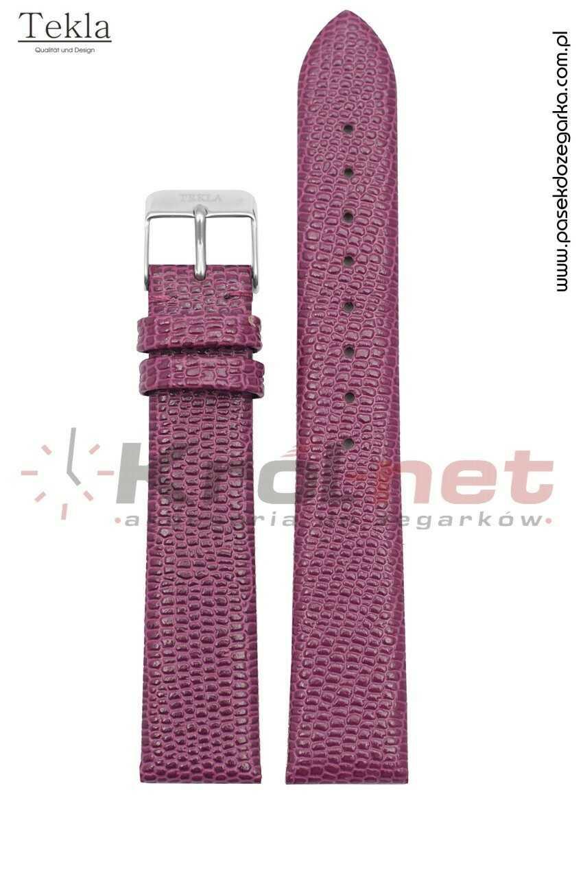 Pasek TK033FIO/10 - fioletowy, imitacja skóry jaszczurki