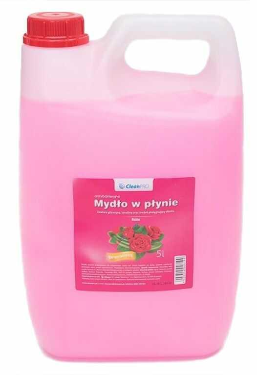 Antybakteryjne mydło w płynie CleanPRO PREMIUM różane 5 litrów