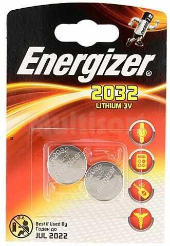Bateria litowa 3V CR2032 ENERGIZER fi20x3,2mm 240mAh 2szt.