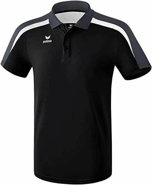 Erima Dziecięca koszulka polo Liga 2.0 czarny czarny/biały/ciemnoszary. 140