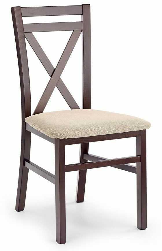 Krzesło drewniane Vegas - ciemny orzech