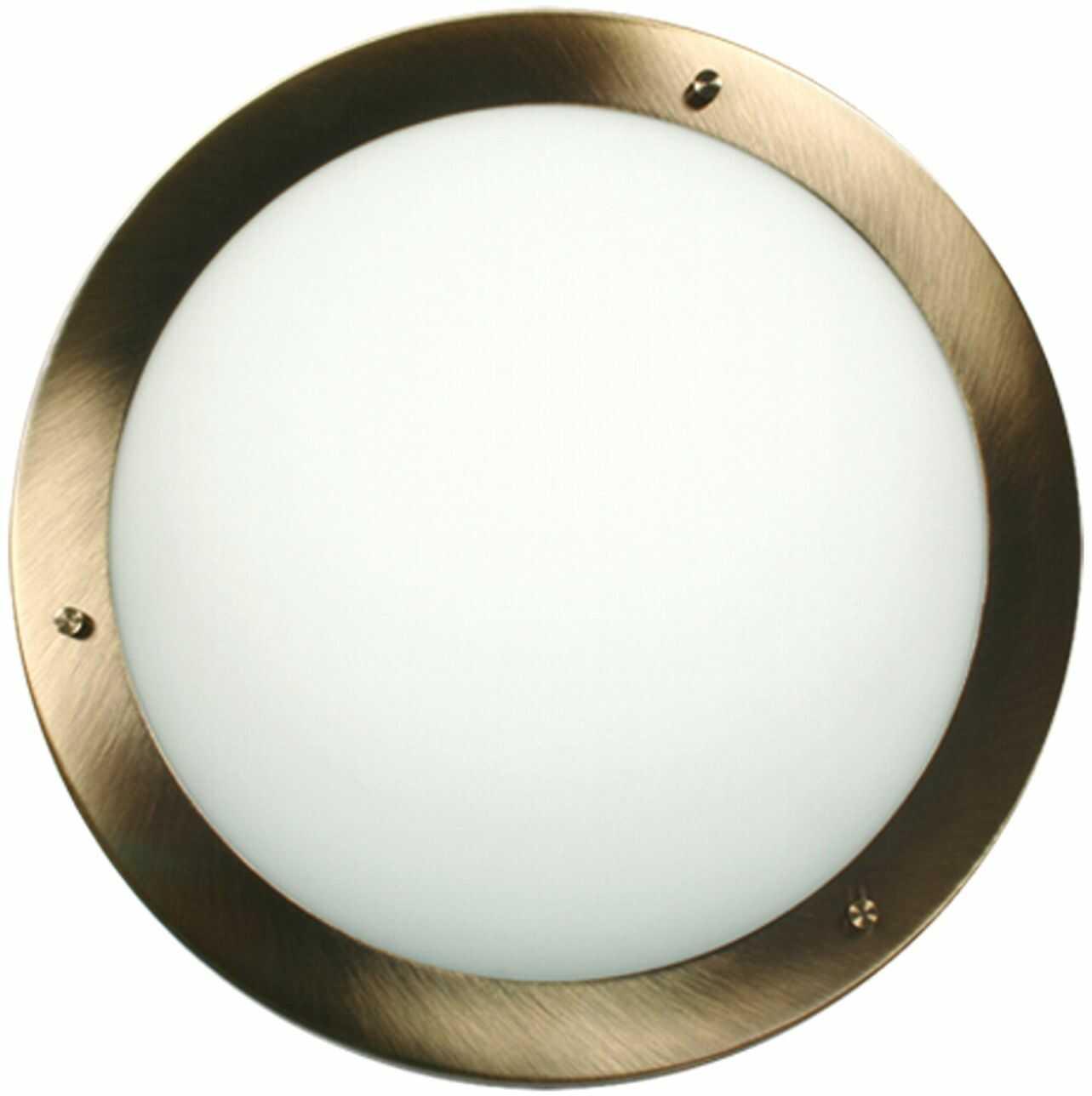 Candellux AQUILA 12-69962 plafon lampa sufitowa patyna szklany klosz 1X40W G9 18cm IP44