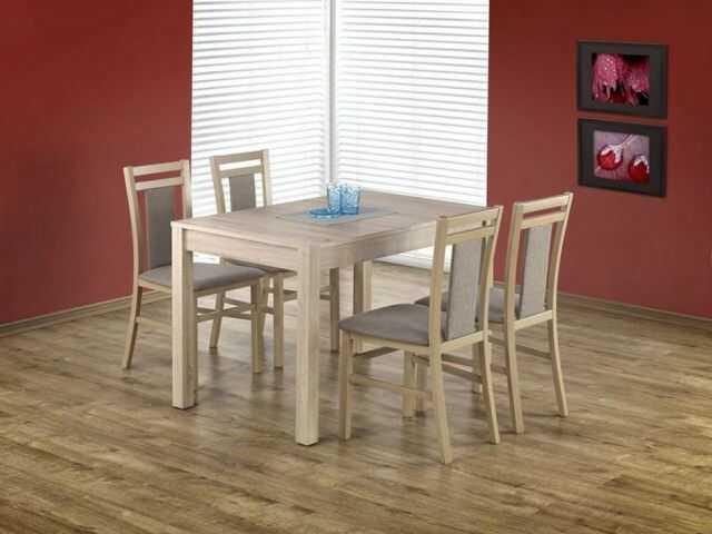 Krzesło HUBERT 8 dąb sonoma drewniane z miękkim siedziskiem  KUP TERAZ - OTRZYMAJ RABAT