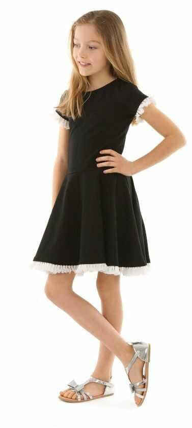 Dziewczęca sukienka na co dzień 116-158 KRP333 czarna
