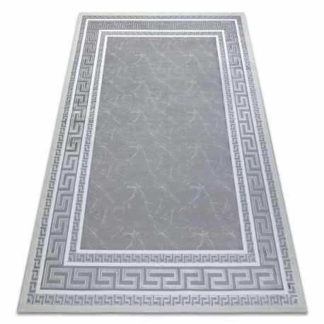 Dywan GLOSS nowoczesny 2813 27 stylowy, ramka, grecki szary 80x150 cm