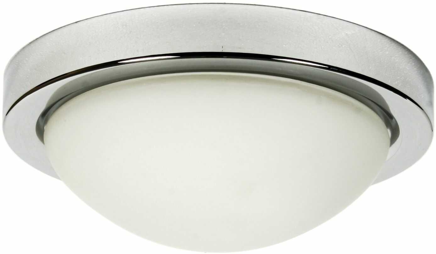 Candellux RODA 11-96916 plafon lampa sufitowa chrom szklany klosz 1X60W E27 28cm IP44