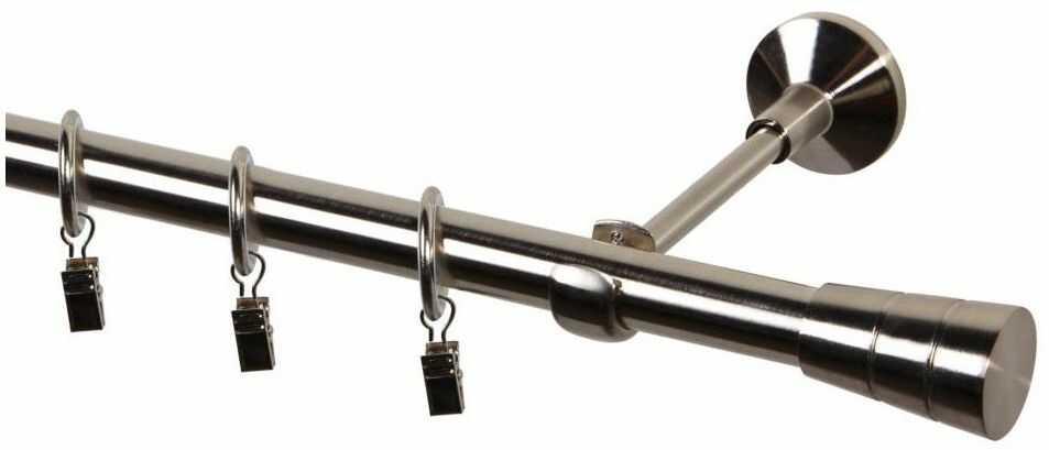 Karnisz Sycylia 240 cm pojedynczy nikiel 19 mm