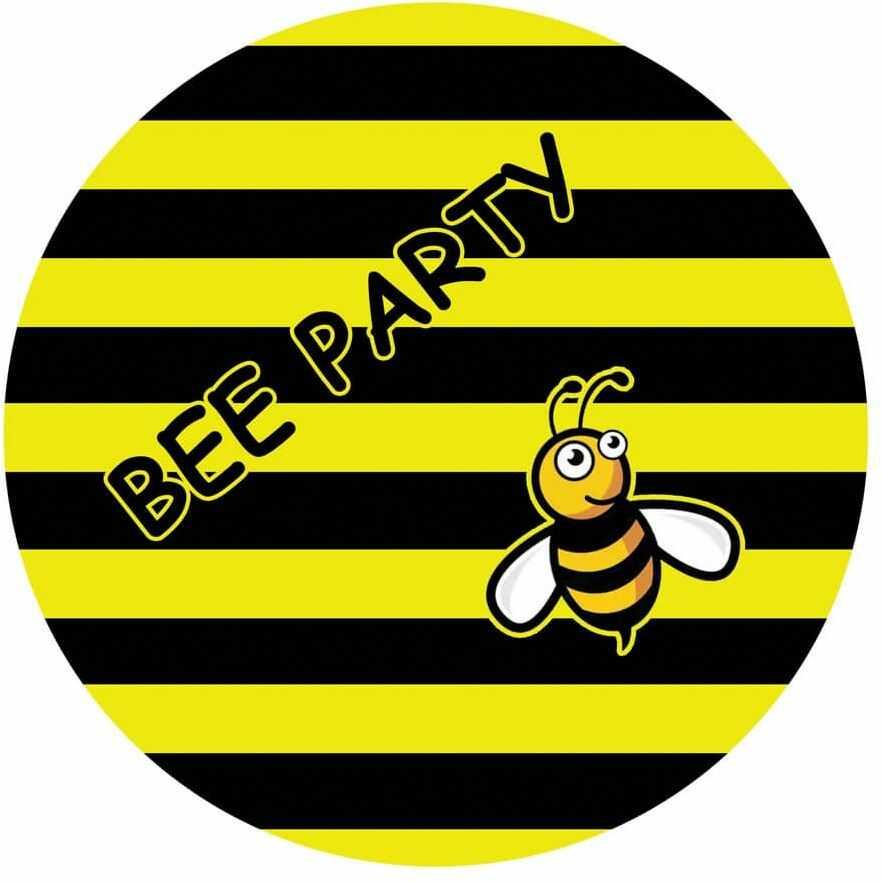Dekoracyjny opłatek tortowy Pszczółka - 20 cm