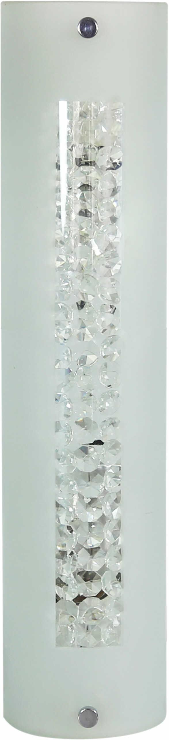 Candellux ABREGO 10-28617 plafon lampa sufitowa szklany klosz kryształki 2X60W E27 24cm