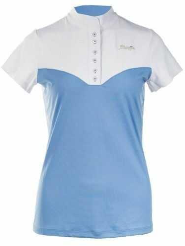 Koszulka konkursowa ALESSIE damska - B//VERTIGO - biały/niebieski