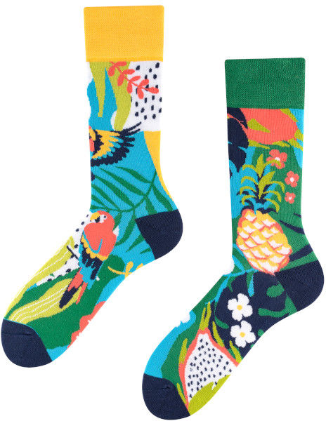 Papaya, Todo Socks, Papuga, Ananas, Liczi, Kolorowe Skarpety
