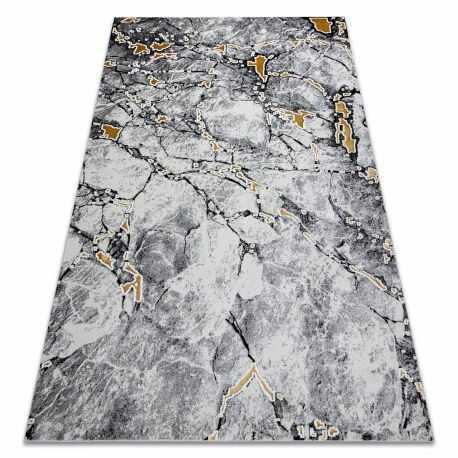 Dywan GLOSS nowoczesny 528A 58 Marmur, kamień, stylowy, glamour kość słoniowa / czarny 80x150 cm