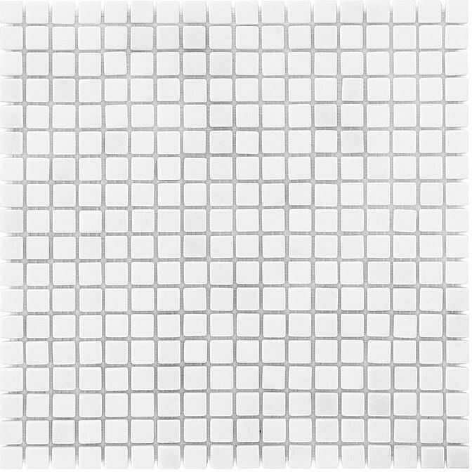 DUNIN B&W Black & White mozaika kamienna Pure White 15 Matt