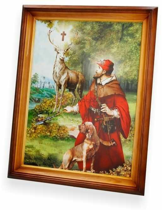 Obraz Święty Hubert - 47x37