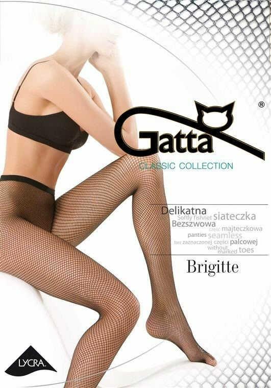 Gatta Brigitte - Fishnet Tights Nero Black