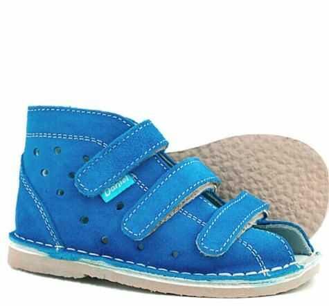 Daniel kapcie sandałki profilaktyczne dla dzieci blue / beż styrogum