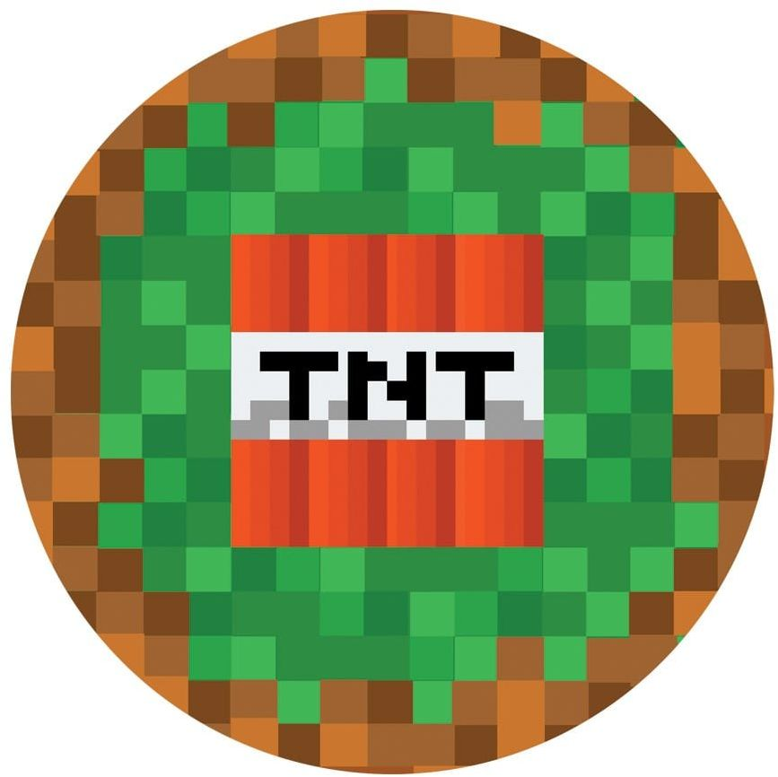 Dekoracyjny opłatek tortowy Piksele TNT - 20 cm