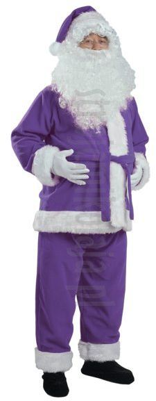 Fioletowy strój Mikołaja - kurtka, spodnie i czapka