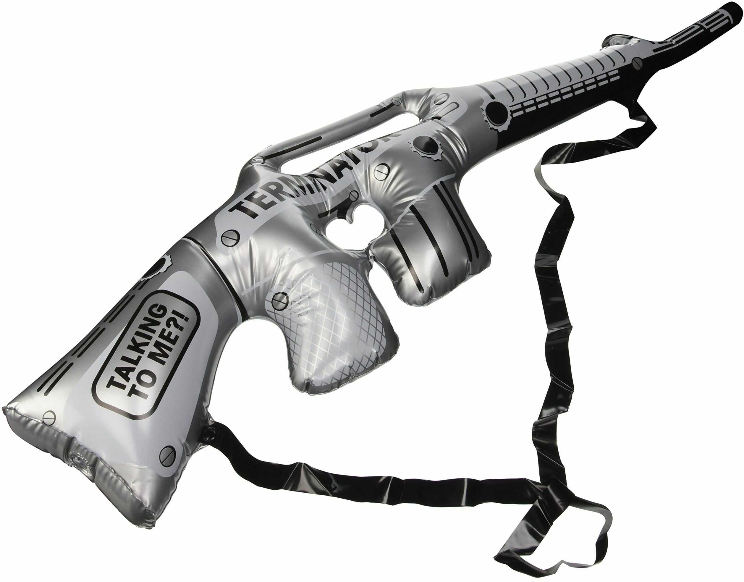Folat 20267 dmuchany karabin maszynowy, srebrny