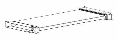 Półka wysuwana do szaf biurowych Sbm m 1200 mm