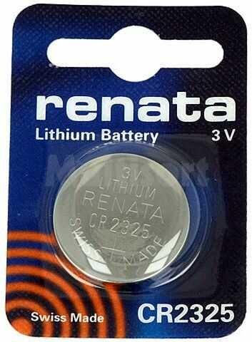 Bateria litowa 3V CR2325 RENATA fi23x2,5mm 190mAh