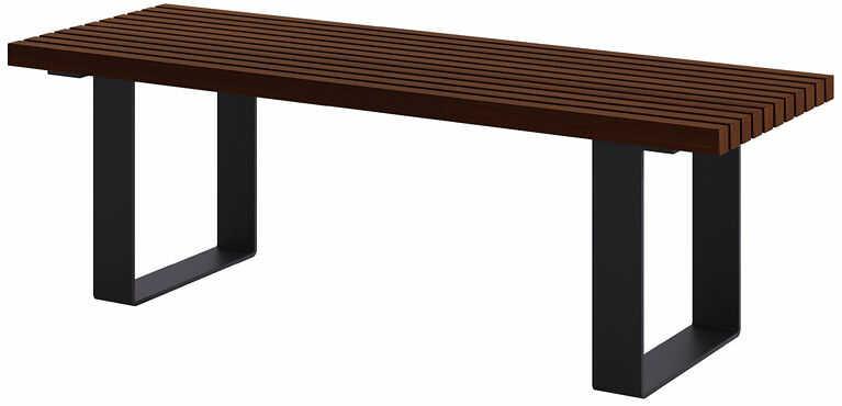 Ławka miejska bez oparcia 150cm palisander - Erika 2X