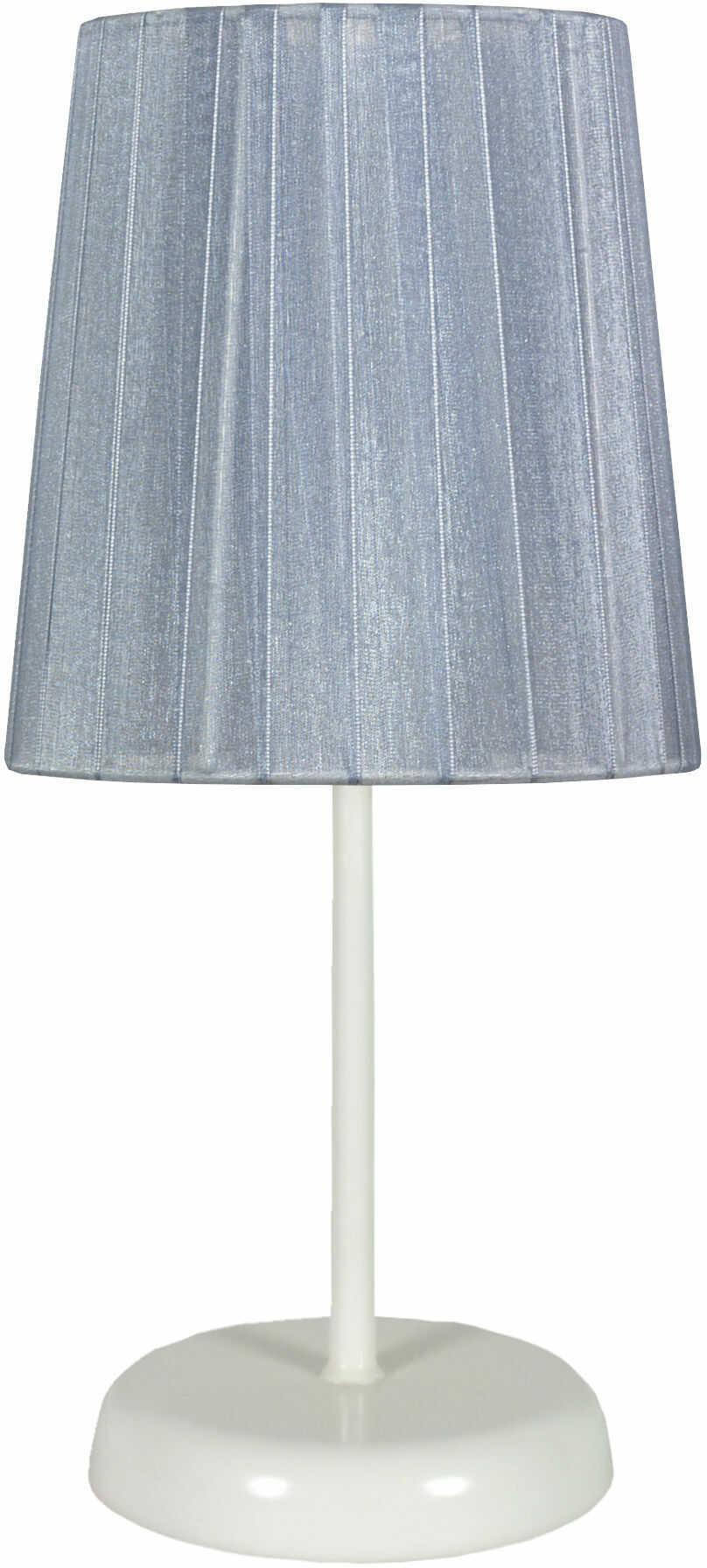 Candellux RIFASA 41-40862 lampa stołowa abażur szara 1X40W E14 14 cm