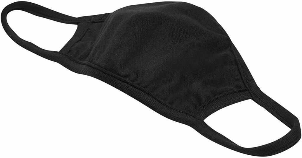 Maseczka dwuwarstwowa bawełniana - czarna, 10 szt